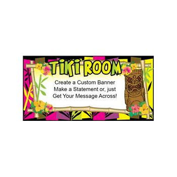 Neon Tiki Room Heavy Duty Custom Message Vinyl Banners