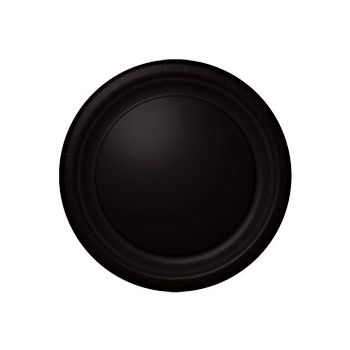 "BLACK SOLID  10 12"" PLATES"