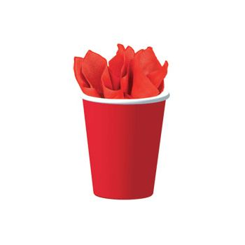 RED SOLID  9 oz. CUPS