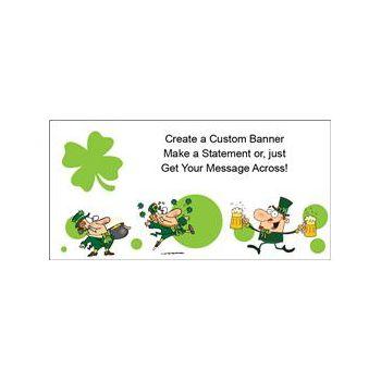 Lucky Leprechaun Heavy Duty Custom Message Vinyl Banners