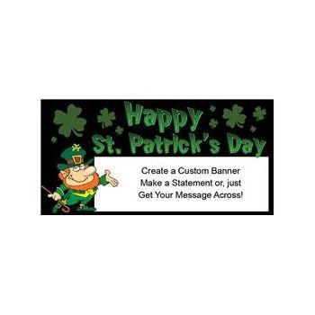 Happy St Patricks Day Leprechaun Custom Vinyl Banners