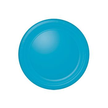 "OCEAN BLUE SOLID  10 12"" PLATES"