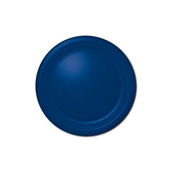"ROYAL BLUE SOLID  10 12"" PLATES"
