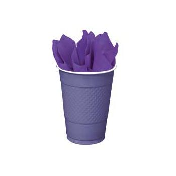 PURPLE SOLID 16 oz. PLASTIC CUPS