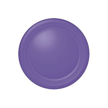 "PURPLE SOLID   10 12"" PLATES"