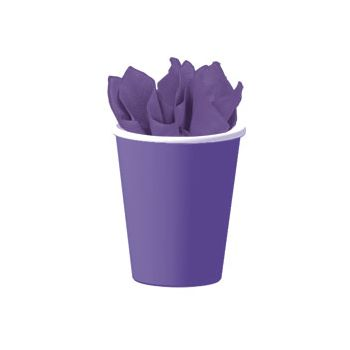 ROYAL PURPLE  SOLID 9 oz. CUPS