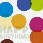 the Big Day Milestone Birthday Luncheon Napkins