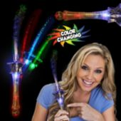 Multi-Color Fiber Optic Star LED Wand - 12 Pack