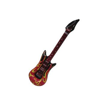Fire Inflatable Guitars - 40 Inch, 12 Pack