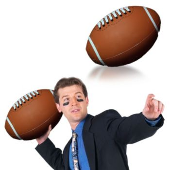 Inflatable Footballs - 16 Inch, 12 Pack