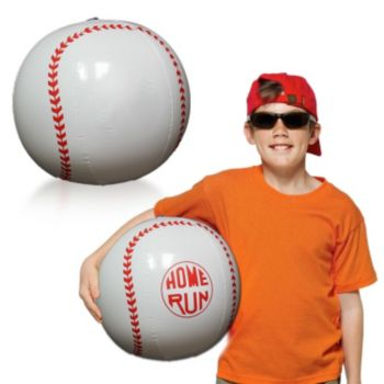 Inflatable Baseballs - 16 Inch, 12 Pack