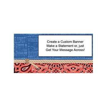 Cowboy Western Heavy Duty Custom Message Vinyl Banners