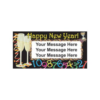 New Years Countdown Custom Banner