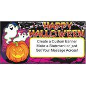 Halloween Happy Ghosts Custom Banner