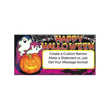 Halloween Happy Ghosts Custom Banner