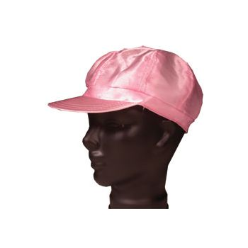 PINK SATIN   NEWSBOY CAP