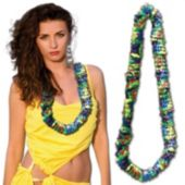 Multi-Color Plastic Leis - 36 Inch, 12 Pack