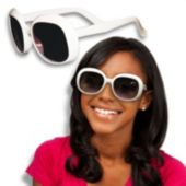 White Rock Star Glamour Sunglasses - 12 Pack