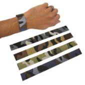 Camouflage Slap Bracelets - 12 Pack