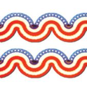 Stars And Stripes Patriotic Tissue Garland Decoration