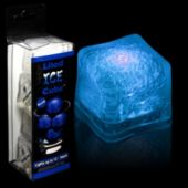 Blue LED Lited Ice Cubes - 4 Pack