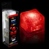 Red LED Lited Ice Cubes - 4 Pack