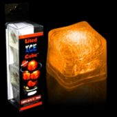 Orange LED Lited Ice Cubes - 4 Pack