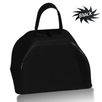 3 Inch Black Metallic Cowbells
