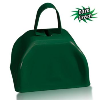 3 Inch Dark Green Metal Cowbells