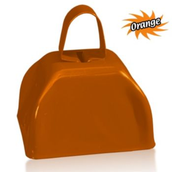 3 Inch Orange Metal Cowbells