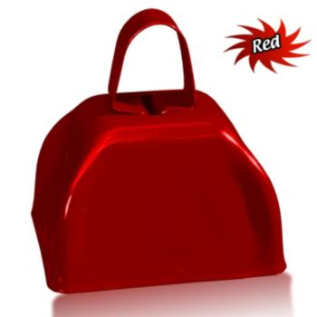 3 Inch Red Metal Cowbells