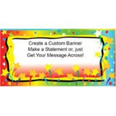 Colorful Stars Custom Message Vinyl Banner