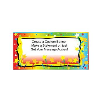 Colorful Stars Heavy Duty Custom Message Vinyl Banners
