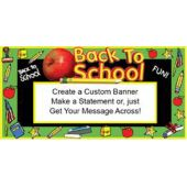 Back To School Custom Message Banner