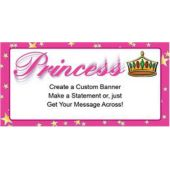 Princess Theme Custom Message Vinyl Banner