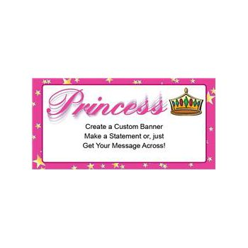 Princess Theme Heavy Duty Custom Message Vinyl Banners