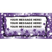Purple Stars Background Custom Vinyl Banner