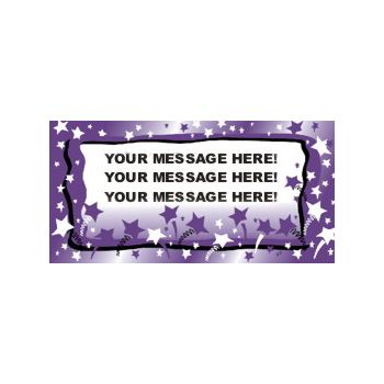 Purple Stars Background Custom Vinyl Banners
