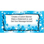 Blue Stars Custom Message Vinyl Banner