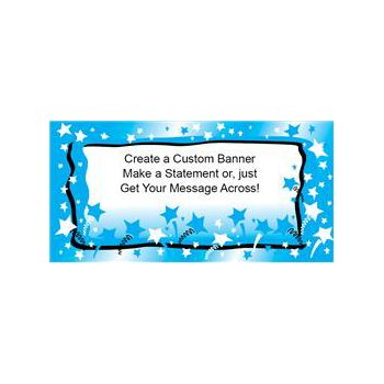 Blue Stars Heavy Duty Custom Message Vinyl Banners