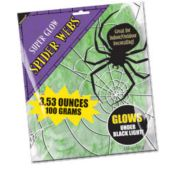 Glow in the Dark Spider Web Material