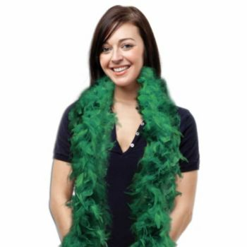 Green Feather Boa - 6 Foot