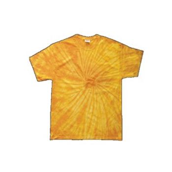 Yellow Adult Tye Dye T-Shirt with Fusion Style Pattern