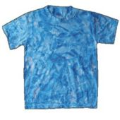 Crystal Blue Adult Tye Dye T-Shirt With Glacier Pattern