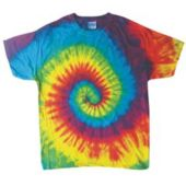 Child Size Tie Dye T-Shirt In Primary Colors Cyclone Pattern