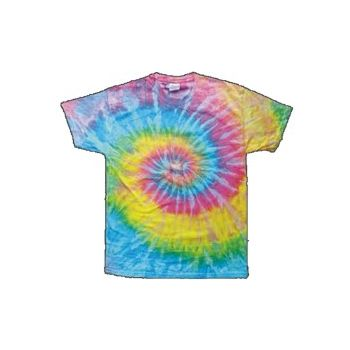 Child Size Pastel Tye Dye T-Shirt with Hippie Pattern