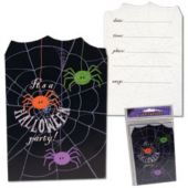 Spider Frenzy Halloween Party Postcard Invitations