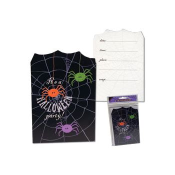 SPIDER FRENZY   POSTCARD INVITATIONS