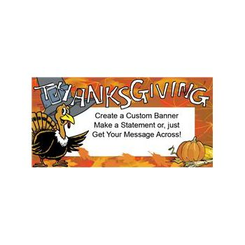 Thanksgiving Turkey Custom Message Vinyl Banners