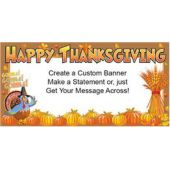 Happy thanksgiving Custom Message Vinyl Banner